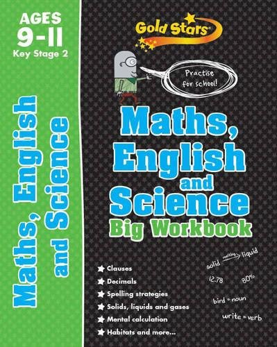 Gold Stars Maths, English and Science Big Workbook Ages 9-11 Key Stage 2: Practise for school! (Gold Stars Ks2 Bumpers)