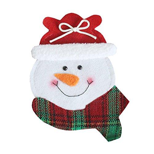 Naisidier Bestecktasche mit rundem Gesicht, für Esszimmer, Weihnachten, Messer und Gabel, hübsches Geschirr Halloween, Dekoration, Gabel, Tasche, Garten, Zuhause, Küche, Weihnachtsdekoration