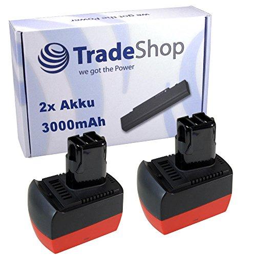 Preisvergleich Produktbild 2x Hochleistungs Li-Ion Akku 12V 3000mAh für Metabo BS 12 BS12 BST12 BST 12 SB 12 SB12 Plus Impuls BSZ12 BSZ-12 BSZ12m BSZ-12-m Impuls BZ12SP BZ-12-SP SSP12 SSP-12 ULA 9.6-18 9.6 – 18 9.6V-18V