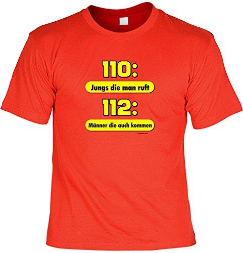 n T-Shirt : Jungs die man ruft - 112: Männer die kommen (Disco Kostüme Jungs)
