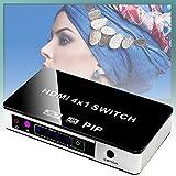 Mcottage 4K HDMI Interruttore Pip 4x1 Video Mixer 4Kx2K 3D con Telecomando per Apple TV PS4 HDTV