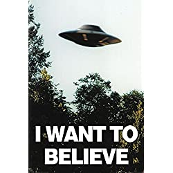 X-Files - I Want To Believe - UFO - Filmposter Kino Movie x-files Science Fiction Sci Fi 61x91,5 cm + 1 Ü-Poster der Grösse 61x91,5cm