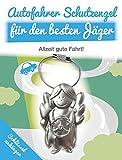 ART + emotions Autofahrer Schutzengel Jäger - SCHLÜSSELANHÄNGER - Metall - Geschenkidee für deinen Lieblingsmenschen - Glücksbringer auf All deinen Wegen