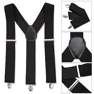 Pour hommes 50mm Wide Bretelles Réglables bretelles élastique en noir par Entretien Boutique