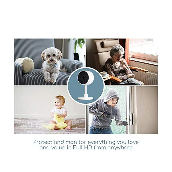 iPixo WiFi Indoor Home Security Camera, Wireless IP Cam with Infrared Night Vision, Instant Motion Alerts, 2 Way Audio, Live Stream, Recording, Playback, Alexa Support, Pet Dog Nanny (Triple Pack) ipixo Super easy to set up and install! A crystal, clear full HD image with a 107° angle lens giving an exceptional widescreen view of your kitchen, lounge, nursery or even office, day and night! The indoor wifi camera automatically switches to night vision with built-in IR cut filter when it gets dark so you never miss a thing. The advanced motion detecting technology sends instant alerts to your smartphone or tablet whenever movement detected. Up to 128GB local storage (Micro SD Card required - not included), the camera can record continuously for up to 21 days. Alternatively, set the camera to record only when movement has been detected, the camera will record the event and footage 5 seconds before, so you don't miss a thing! 4