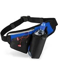 Quadra - sac banane - ceinture - running - hydratation porte-bouteille - QS20 - noir / bleu roi