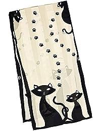 VON LILIENFELD Foulard en soie femme écharpe Chats noirs Dimensions   172 x  ... 3f1b7444306