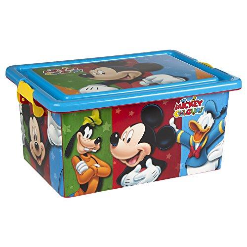 ColorBaby - Caja ordenación 13 litros, diseño mickey mouse (76607)