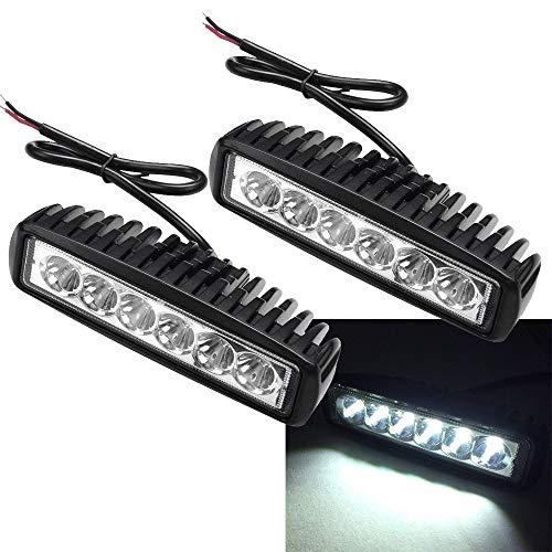 2 x 18W LED phares de travail 1620 lumens phares blancs 12V 24V offroad projecteur réflecteur projecteur de travail lumière SUV UTV ATV lampe de travail, tracteur, excavatrice