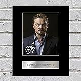Foto di Leonardo DiCaprio con autografo e montatura