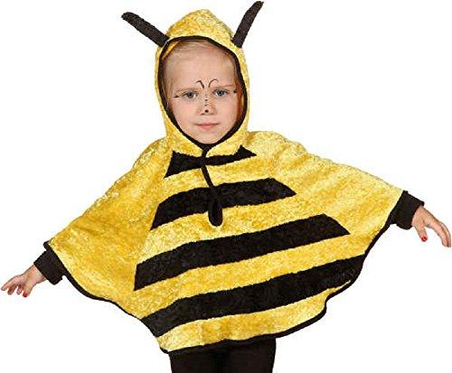 Jungen Mädchen Mini Biest Biene Frosch Marienkäfer Welttag des buches-Tage-Woche Kindergarten Kostüm Kleid Outfit Umhang - Hummel, 3-4 Years (104cm) ()