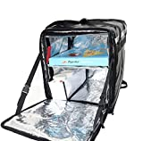 PK-76F: Doubledeck Insulated Pizza/Food Delivery Backpack Bag, 16'x 15'x 18', With a Cup Holder. A Waterproof, Collapsible Food Take-Out Box For Catering, Restaurant, Delivery Drivers, 76Liters(Blue)