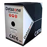 Cat 6Solid Outdoor/External Cable 305m Caja Negro 100% Cobre Datos Cable de Ethernet