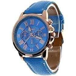 Geneva Platinum Analog Blue Dial Women's Watch - GP-236