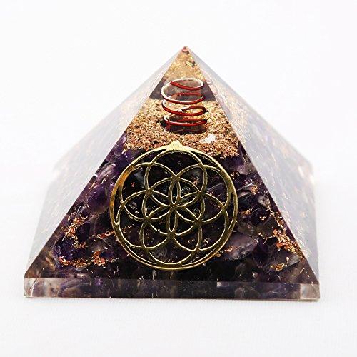 Ruchi Mart Amethyst Steinpyramide Reiki Gemstones Orgon-Energie-Generator Spirituelle Geschenk