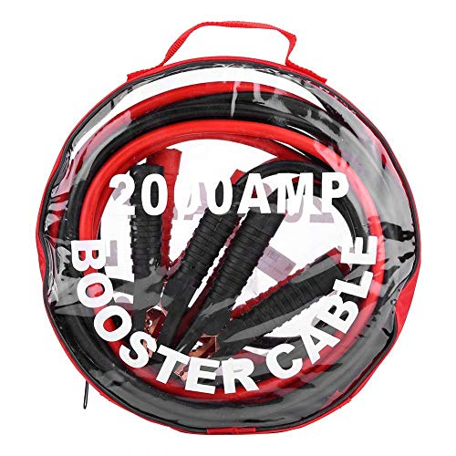 KIMISS 1 Coppia di cavi di salto batteria di emergenza per auto 12V Cavo di salto batteria Batteria linea(4M/2000A)