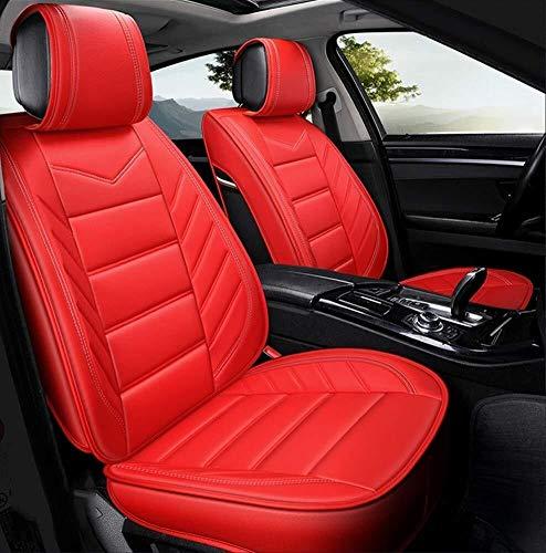 ZH~K Sitzbezügesets Autositzbezüge PU Voll Setautomotive Universal-Fit Sitzbezüge Auto AccessoriesAirbag Kompatibel Sitz Sitz HUSSEN warten (Color : Red)