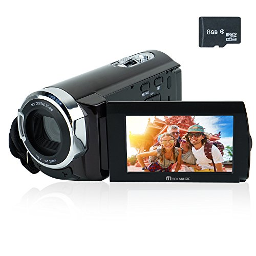 "TEKMAGIC 8GB 3.0"" LCD 1080P Full HD DV Camera 16x Zoom Camcorder 270°Rotation"