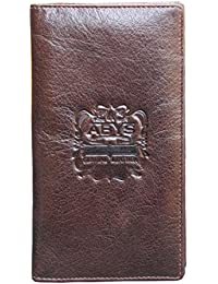 ABYS Coffee Brown Genuine Leather Coin Purse//Long Wallet For Men & Women