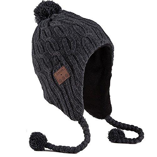 Urcover Beanie Bluetooth, Cappello Bluetooth Uomo e Donna, Berretto Wireless Auricolari Altoparlante per Chiamate e Musica, Caldo e Morbido in Nero