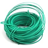 I K Plastic Twist Tie Wire Spool With Cutter For Garden Yard Plant 50m (Green)