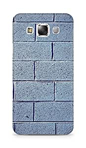 Amez designer printed 3d premium high quality back case cover for Samsung Galaxy E5 (Brick stone white shadow)