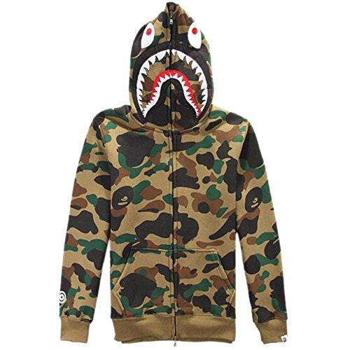 ETASSO Herren Pullover Camouflage Hoodie Kapuzenpullover Unisex Kapuzen-Sweatshirt Kaffee XL (Kaffee-hoodie)