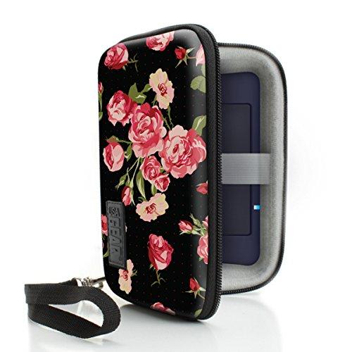 USA Gear Tragbare WiFi-Hotspot Tragetasche mit Handschlaufe - Kompatibel mit Mobilen 4G-LTE-WLAN-Hotspots von Verizon, T-Mobile, Skyroam Solis, GlocalMe, Netgear, Huawei und Mehr - Blumen