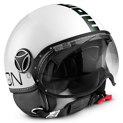 MOMO CASCO FIGHTER FGTR EVO BLANCO, CUARZO DOBLE VISERA TALLA ML