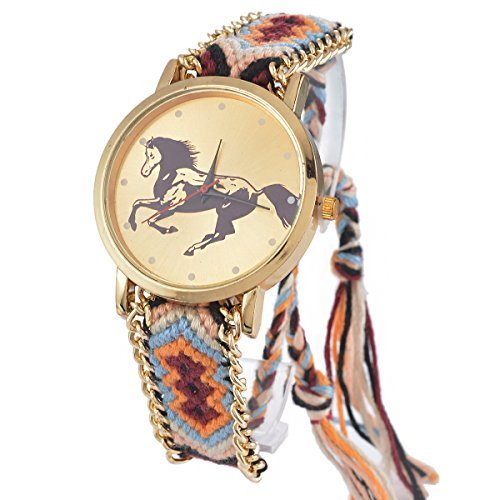 souarts-horse-velvet-handmade-adjustable-weave-bracelet-round-wrist-watch-brown