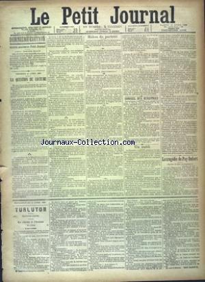 PETIT JOURNAL (LE) [No 9605] du 13/04/1889