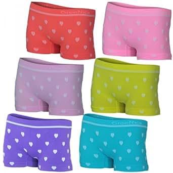 6er Pack Kinder Mädchen Pantys aus weichem Mikrofaser in 6 verschiedenen Farben, Farbe:mehrfarbig, Größe:2-4 Jahre