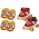 Mondo A1102540 Cars - Patines de 4 ruedas y protecciones infantiles