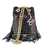 LA CARRIE BAG SECCHIELLO GRANDE ATZEC 171-B-171 NERO MULTICOLOR immagine