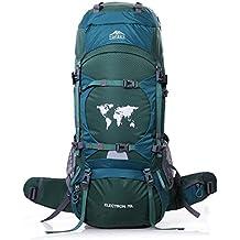 Mochila impermeable Topsky para senderismo de 70l; mochila grande de senderismo., mujer Infantil hombre Unisex, 30924, verde