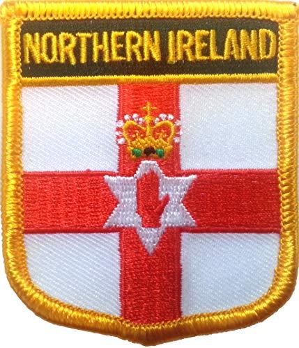 Klicnow Irlanda Norte Escudo Bordado Parche 6cm