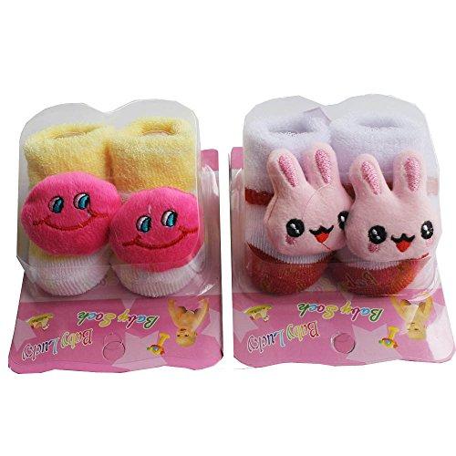 Born Baby Socks cum shoes - 2 Pair set