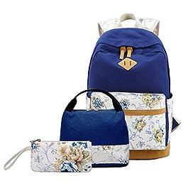 63144b1504 FEWOFJ Tela Zaino Casual Scuola Zaini Donna Ragazza Backpack Zainetto 3 in  1 Zaini + Borsa ...