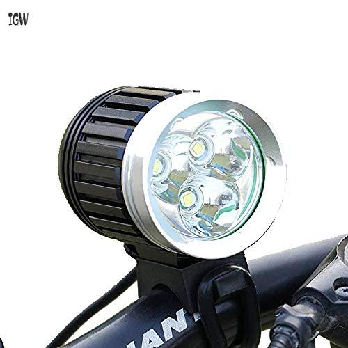 IGW Leichter für Bici Lighter MTB 3X CREE XM -L T6 3600LM 4 Modus wiederaufladbar mit nachfolgendem Radfan