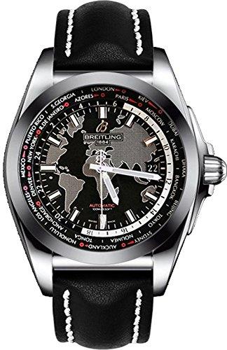 Breitling Galactic Unitime wb3510u4-bd94–435x Stahl automatische Herren-Armbanduhr