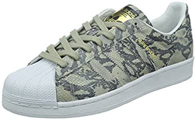adidas Originals Men's Superstar East River Rivalry White and Gold Leather Sneakers - 10 UK