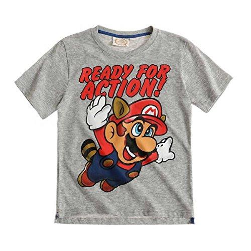 Super Mario Bros Ragazzi Maglietta manica corta - grigio - 140