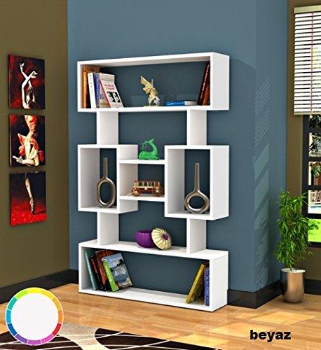 OYO Concept Bücherregal \ Standregal \ Büroregal \ Bibliothek Regal \ Holzregal \ Aufbewahrungsregal (Amore) (Bücherregal-regale-bibliothek)