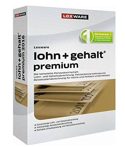 Lexware lohn+gehalt premium 2017 Jahresversion (365-Tage)