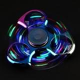 Luomike LED Licht Fidget Hand Spinner Finger Gyro Spielzeug für