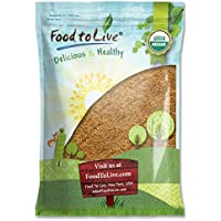 Food to Live Linaza dorada Bio (Eco, Ecológico, Entera, cruda, No GMO, kosher, a granel) 5.4 Kg