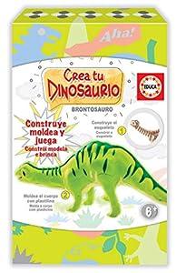Educa Borrás-CREA y Moldea Tu Brontosaurio Actividades Creativas, Color Variado 18364