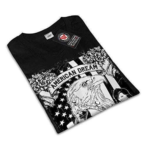 amerikanisch Traum Adler USA Damen S-2XL T-shirt | Wellcoda Black ...