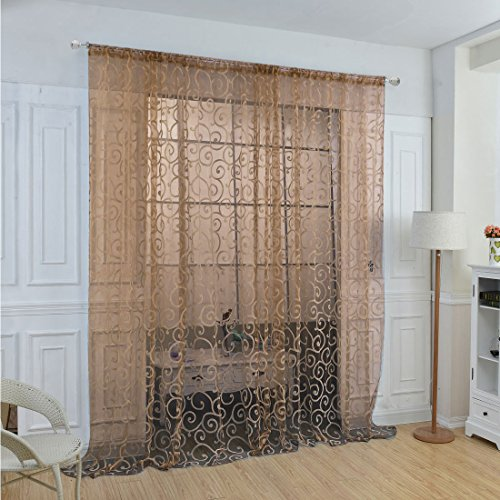 sourcingmapr-floral-tulle-voile-door-window-curtains-drape-sheer-scarf-valances-coffee-colorone-pane