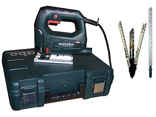 Metabo STEB 65 i. Koffer + Bosch Makita Stichsägeblätter für Trenn-Biber 012L